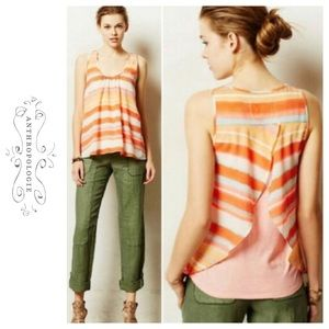 Anthro Meadow Rue Neon Sleeveless Striped Top